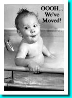 baby in bath moving card
